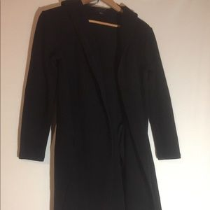 Forever 21 contemporary black hooded cardigan M
